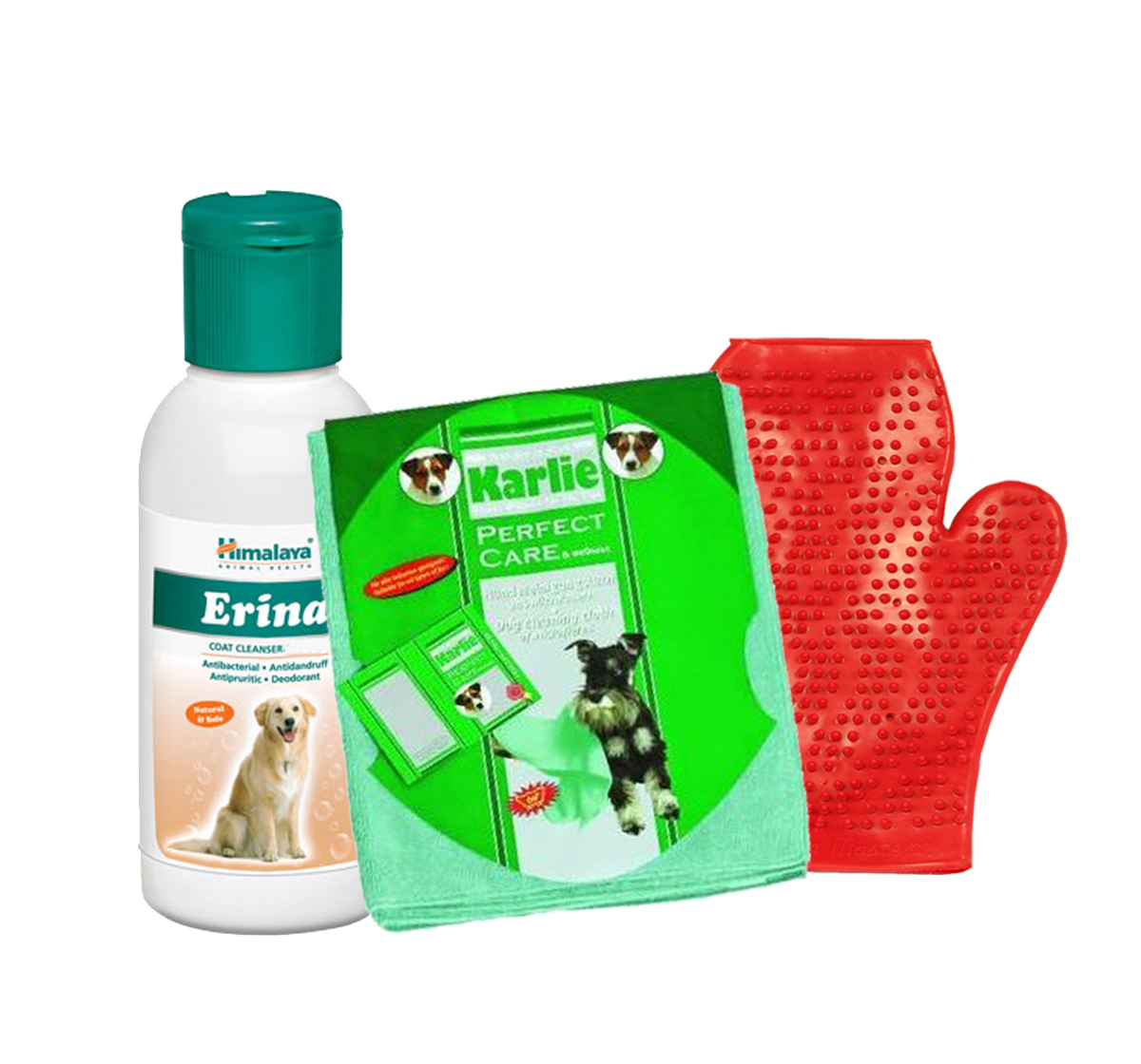 Himalaya Erina Coat Cleanser For Dog - 120 ml With Glove & Towel