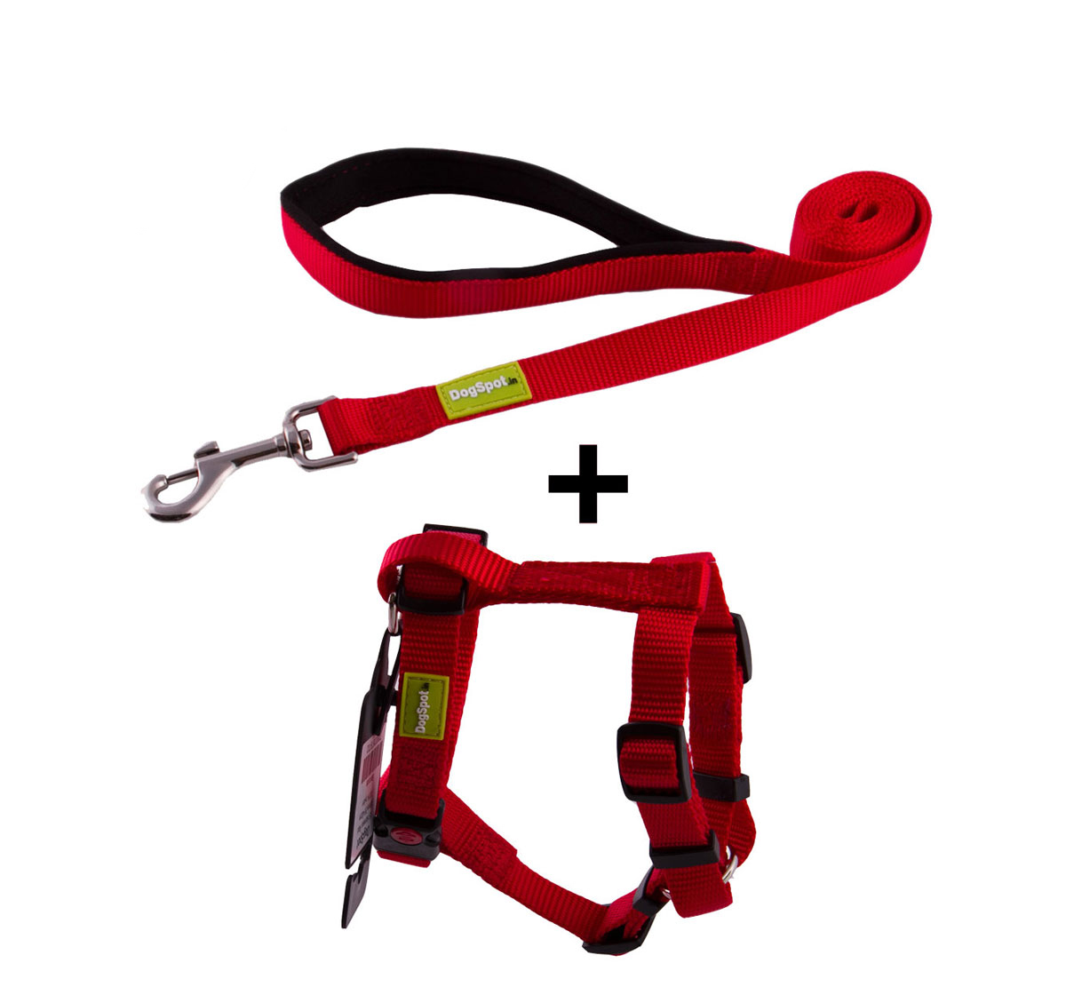 DogSpot Premium Leash and Harness Set Red 15 mm - Xsmall