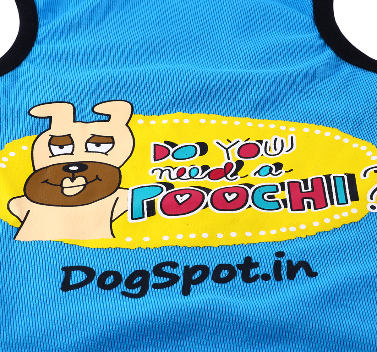 DogSpot Need a Poochie T- Shirt -Size 24