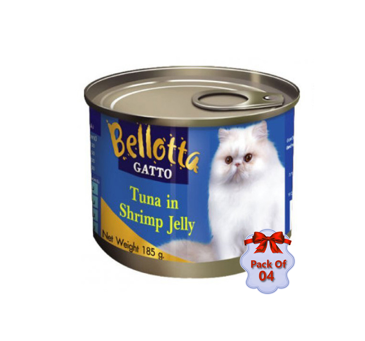 Bellotta Gatto Tuna In Shrimp Jelly - 185 gm (Pack Of 4)