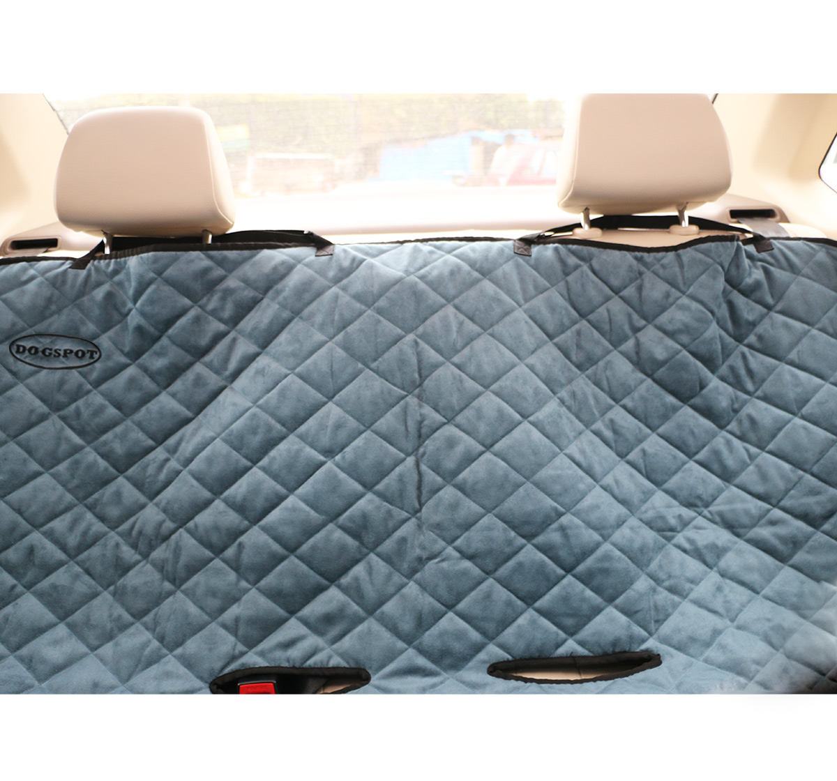 DogSpot Quilted Car Seat Cover Sea Green