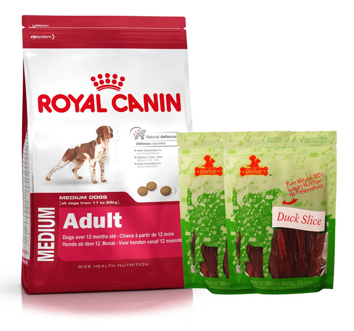 royal canin medium adult 4 kg with duck slices dogspot. Black Bedroom Furniture Sets. Home Design Ideas