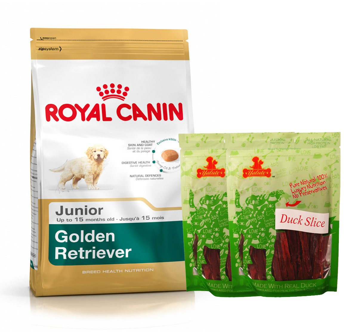Royal Canin Golden Retriever Junior - 3 Kg  With Duck Slices