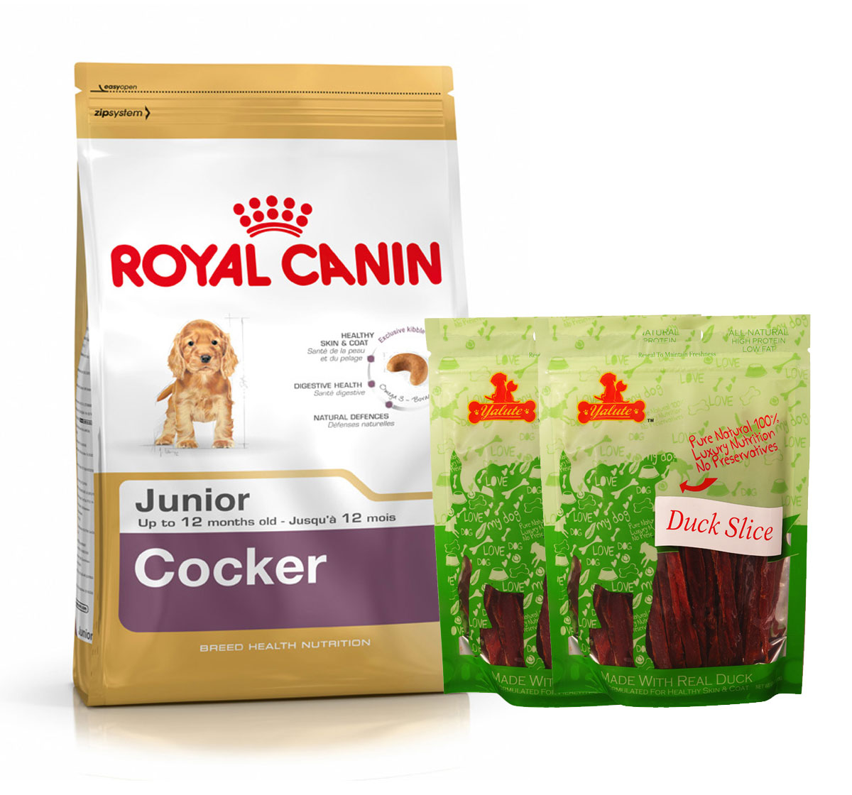Royal Canin Cocker Junior - 3 Kg  With Duck Slices