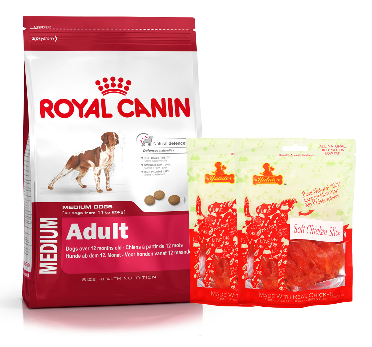 Royal Canin Medium Adult - 4 Kg  With Chicken Slices