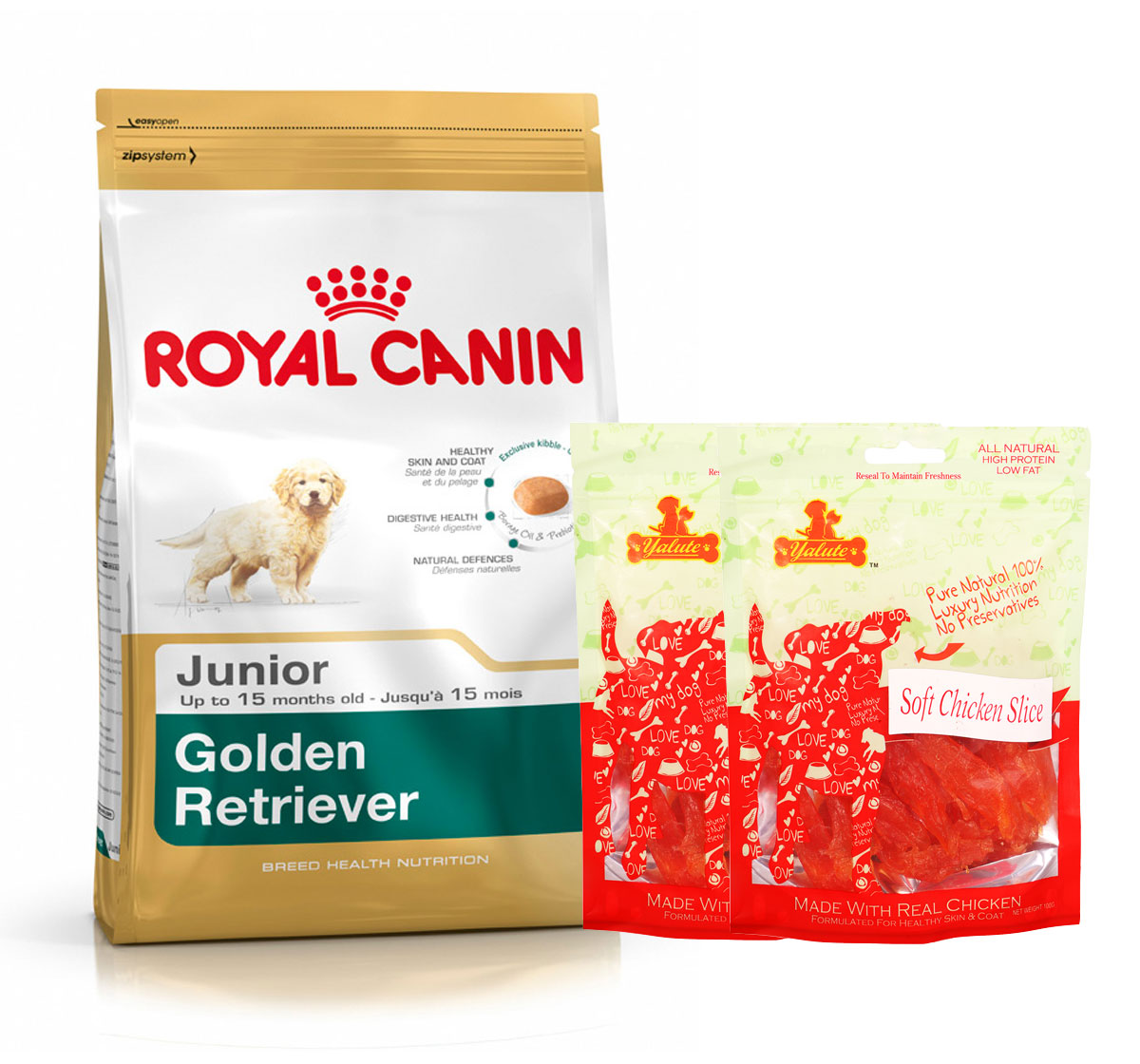 Royal Canin Golden Retriever Junior - 3 Kg  With Chicken Slices