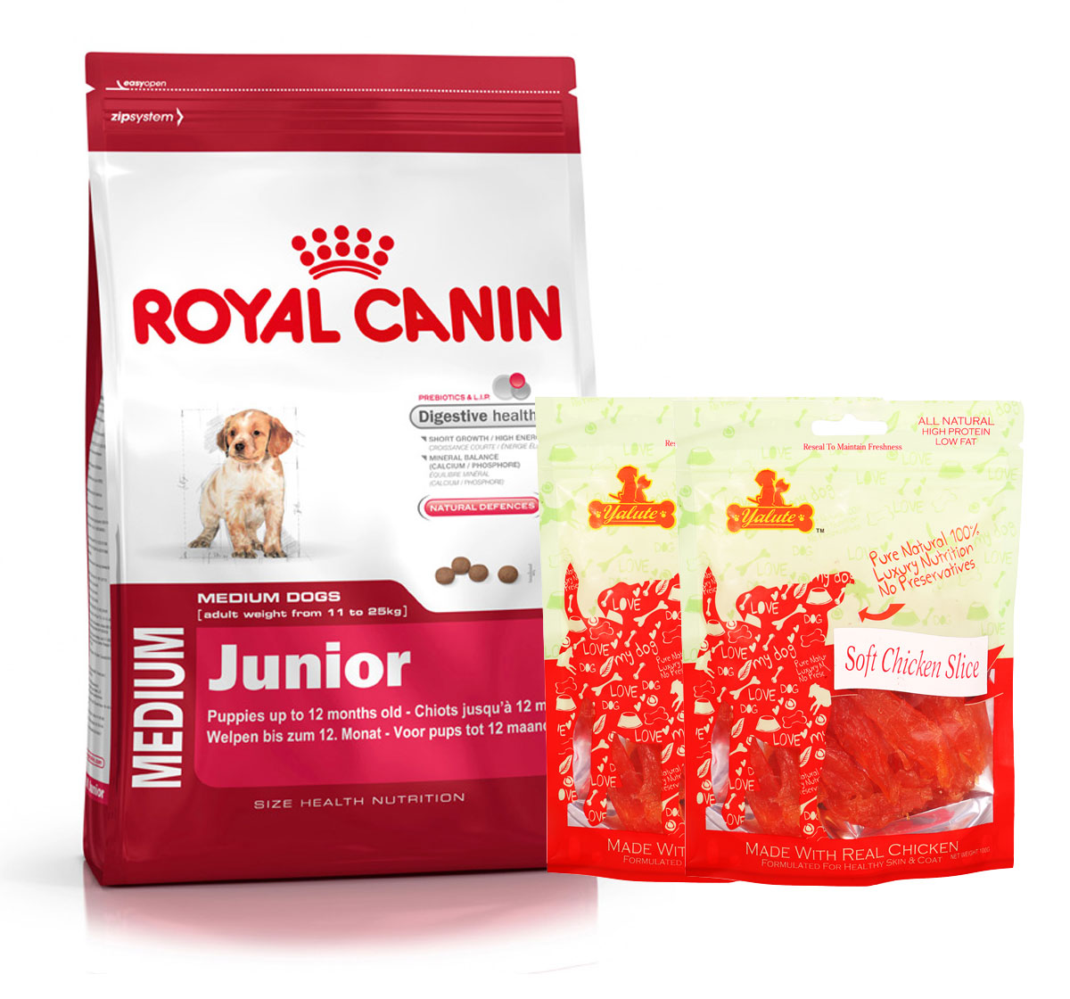 Royal Canin Medium Junior - 4 Kg  With Chicken Slices