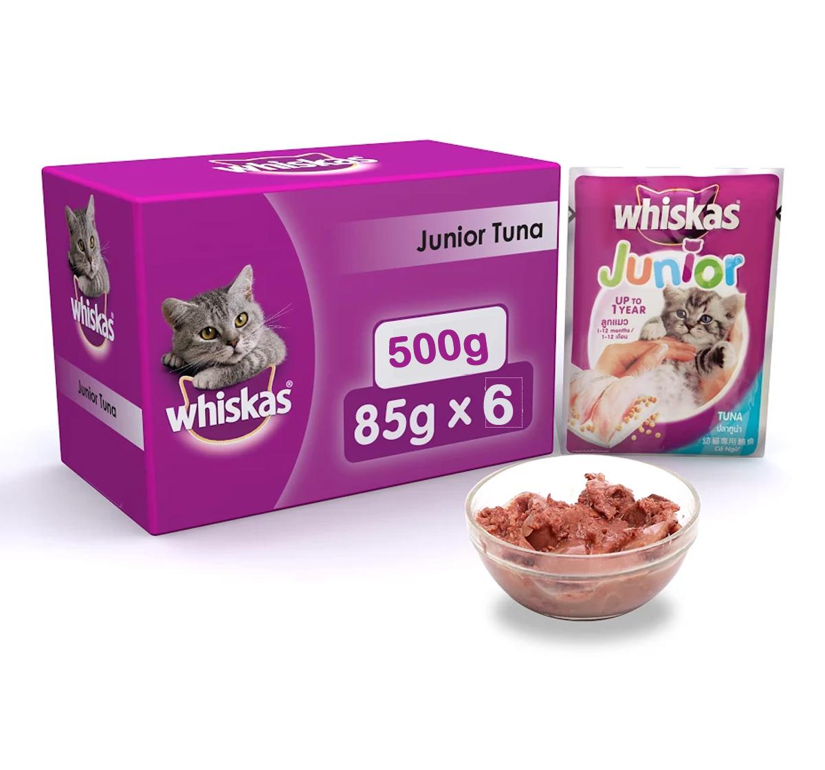 Whiskas Kitten Cat Food Tuna - 85 gram (Pack Of 6)