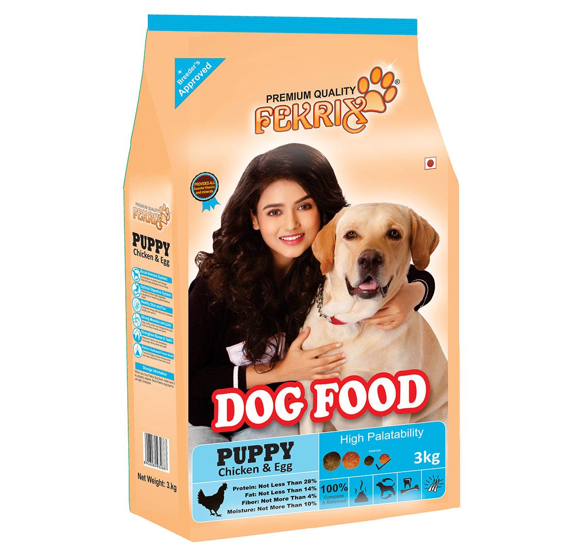 Fekrix Chicken & Egg Puppy Food - 15 Kg