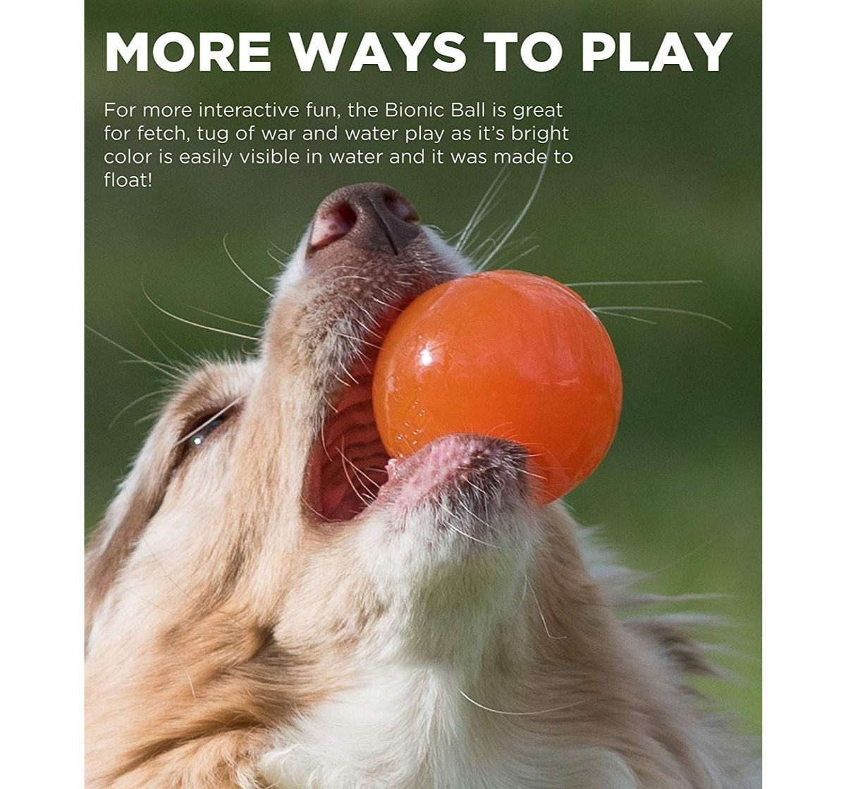 Outward Hound Bionic Opaque Ball Orange - Large