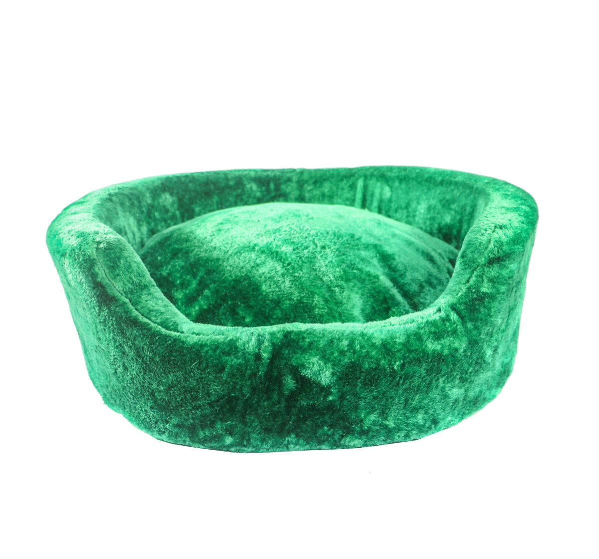 DogSpot Luxury Velour Basket Bed Emerald - Small -  24 Inches