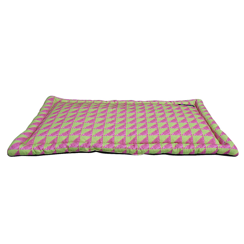 Mutt Of Course Water Color Pink & Green Mat - Medium
