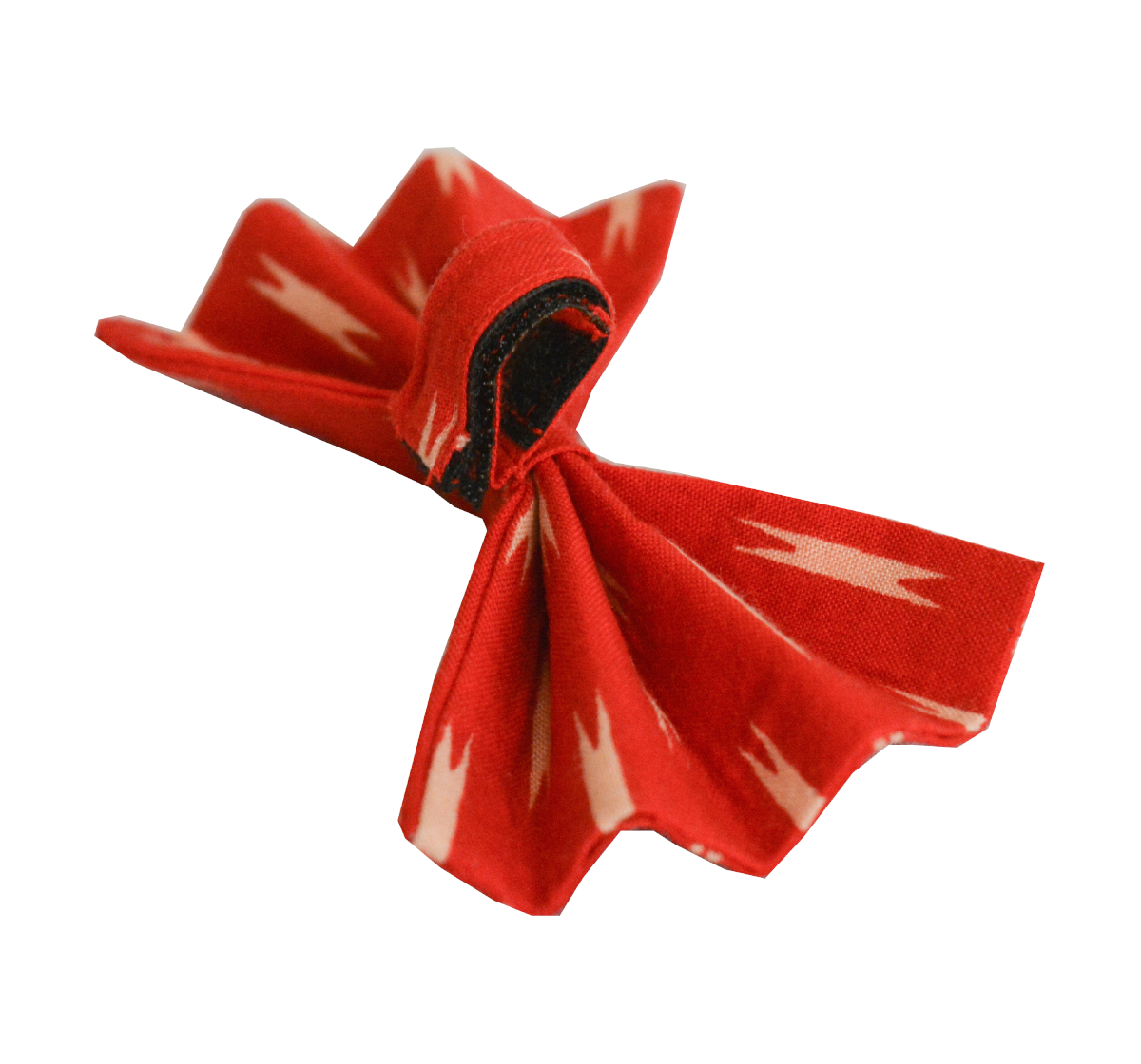Paws A Little Red Ikat Adjustable Bow Tie