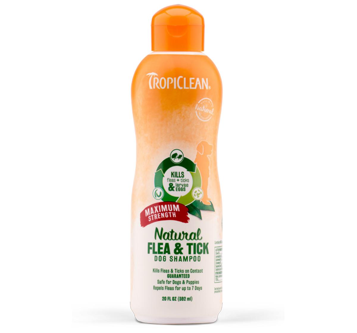 Tropiclean Natural Flea & Tick Maximum Strength Shampoo  - 592 ml