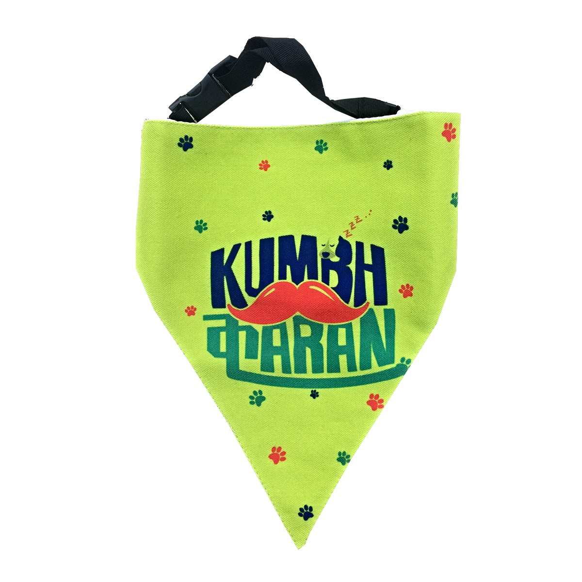 LANA Paws The Lazy Dog, Kumbhkaran Adjustable Bandana Lime Green -Medium & Large