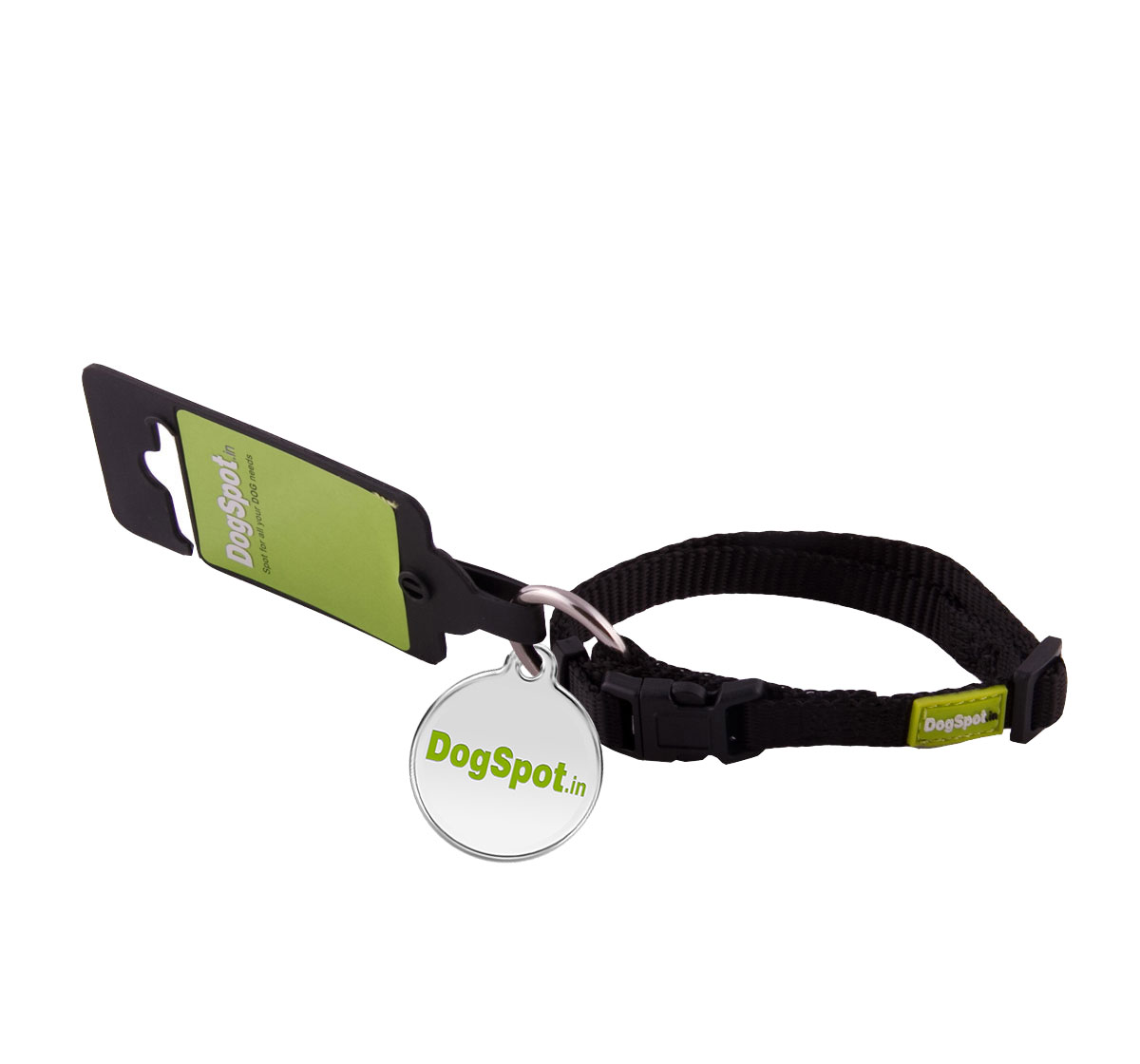 DogSpot Premium Adjustable CollarBlack - Xsmall With Wag Tag