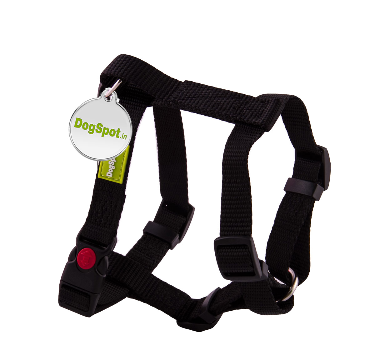 DogSpot Premium Harness Black - Medium With Wag Tag