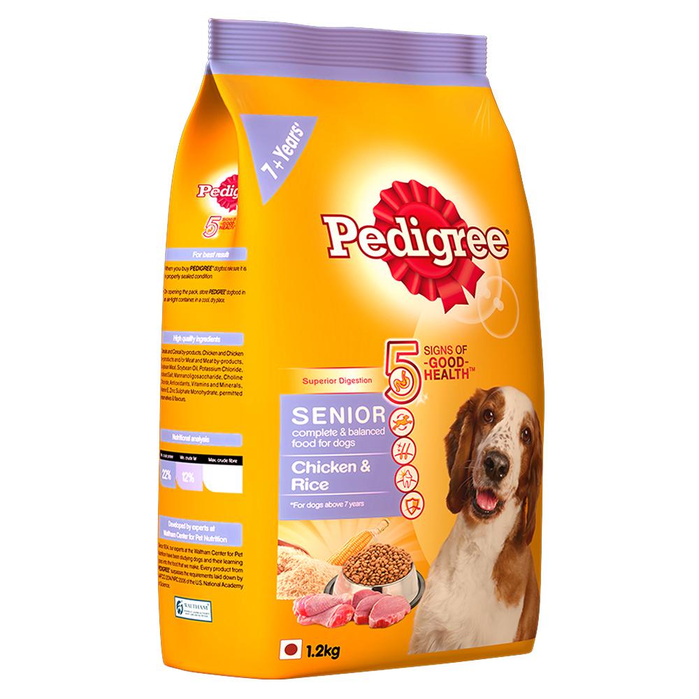 Pedigree Chicken & Rice For Senior Dog - 1.2 Kg
