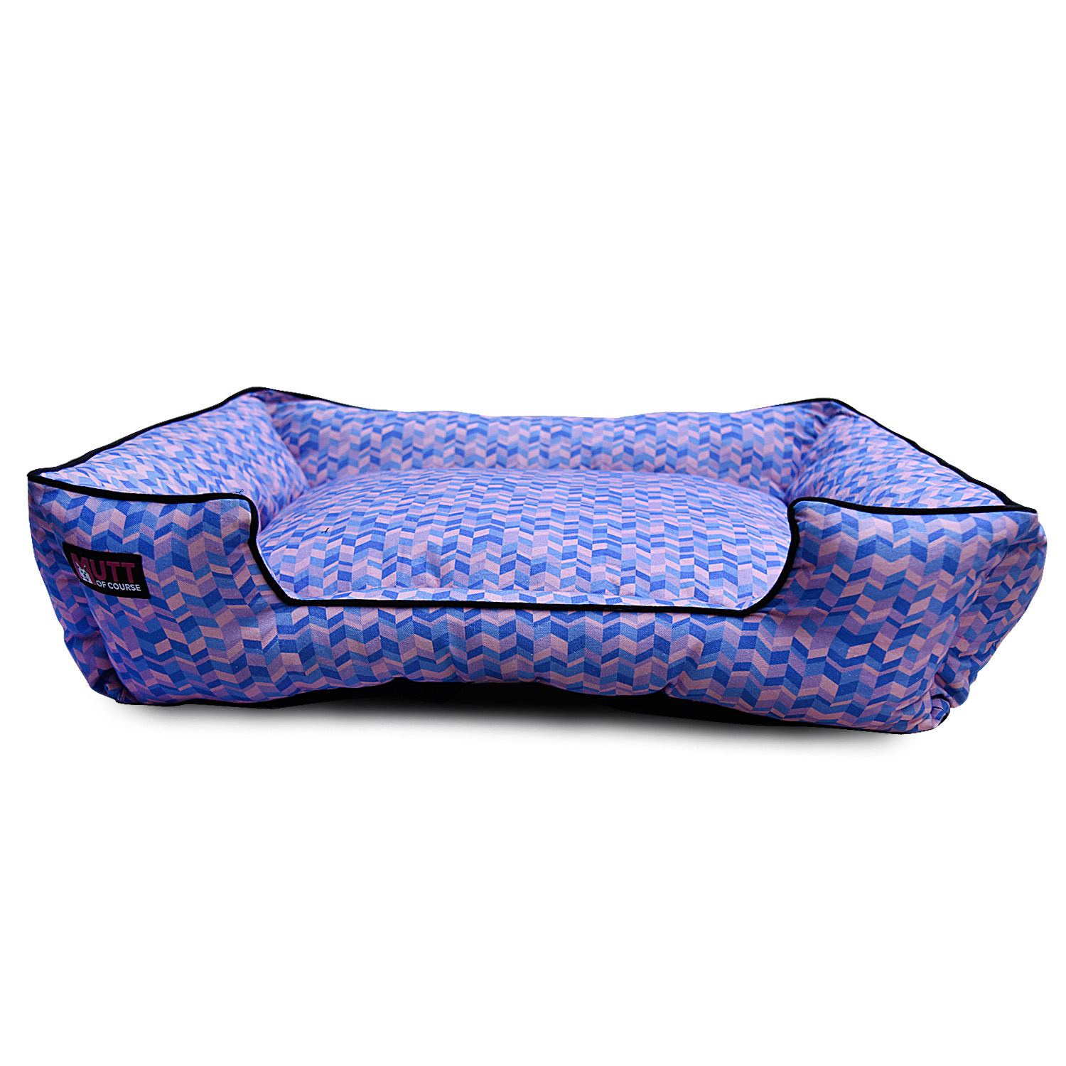 Mutt Of Course Geometrical Light Lounger Bed - Xlarge