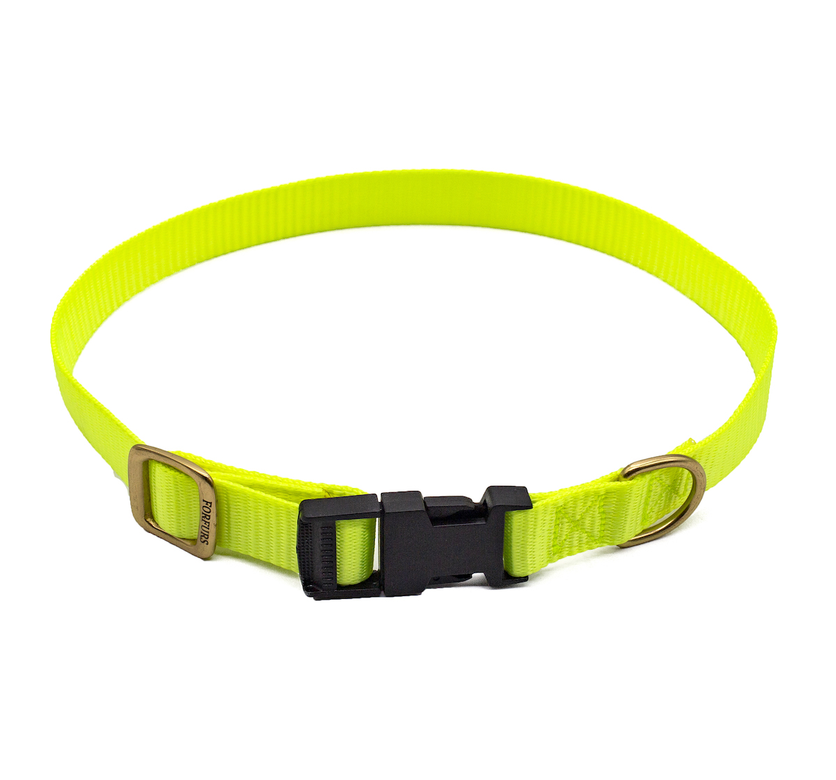 Forfurs Adjustable Classic Dog Collar Lime Green - Medium
