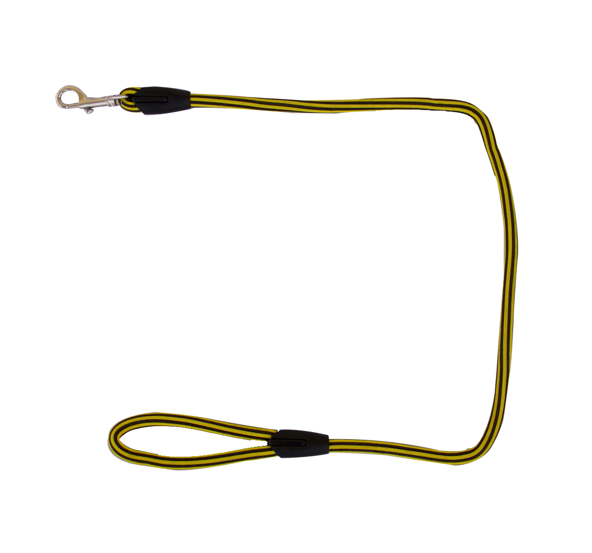 DogSpot Striped Nylon Rope Leash - Lemon Green