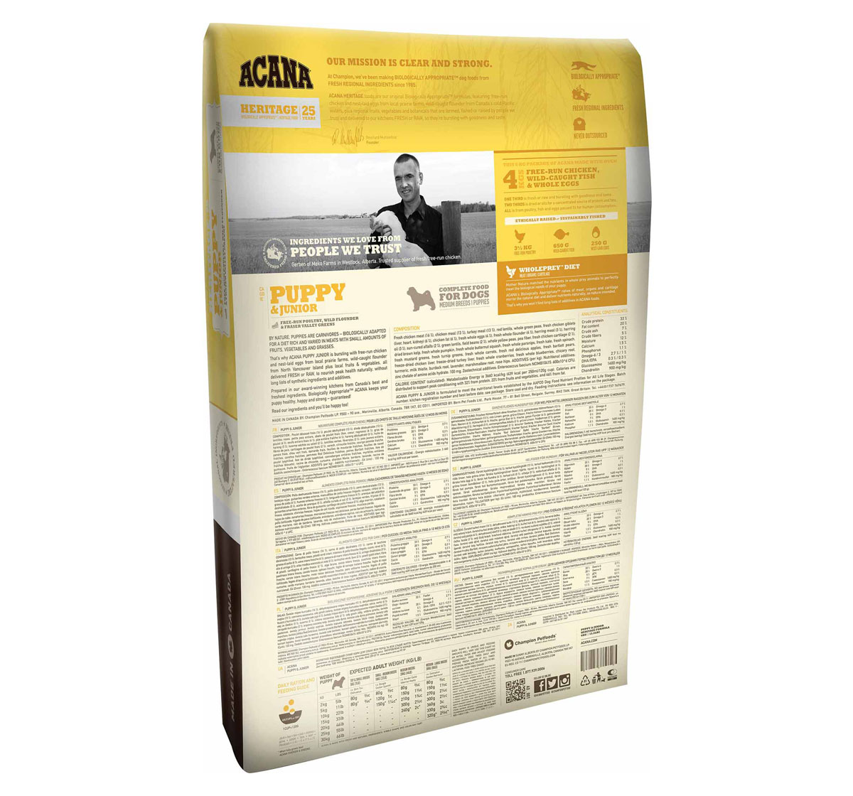 Acana Puppy & Junior Food - 340 gm