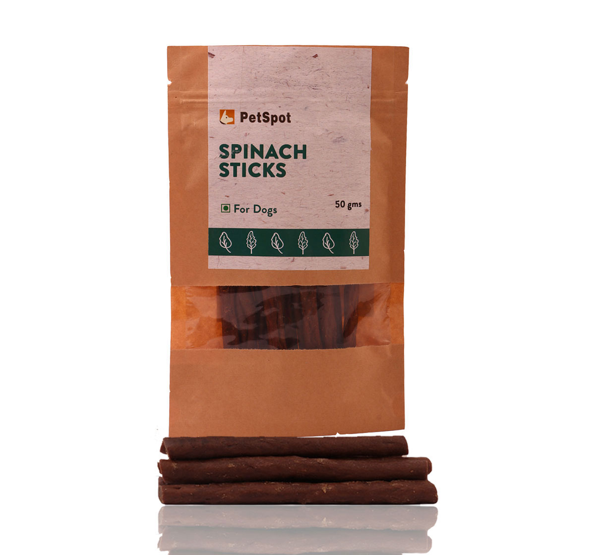 PetSpot Spinach Sticks - 50 gm