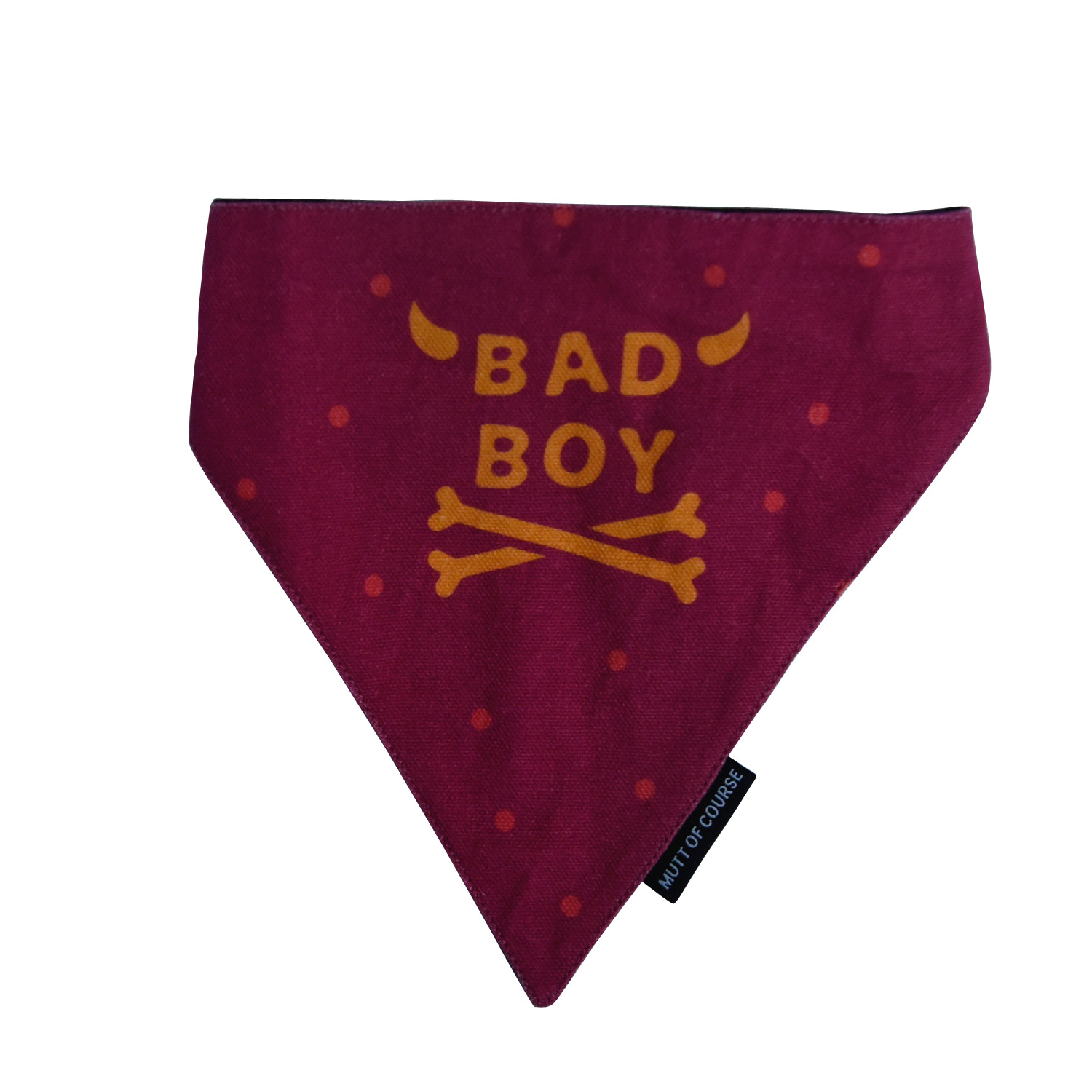 Mutt Of Course Bad Boy Bandana - Small