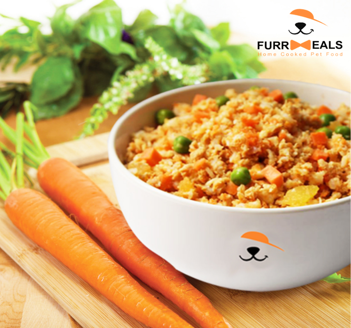 FurrMeals Herbed Chicken & Rice Home cooked Adult Dog Food - 3 kg