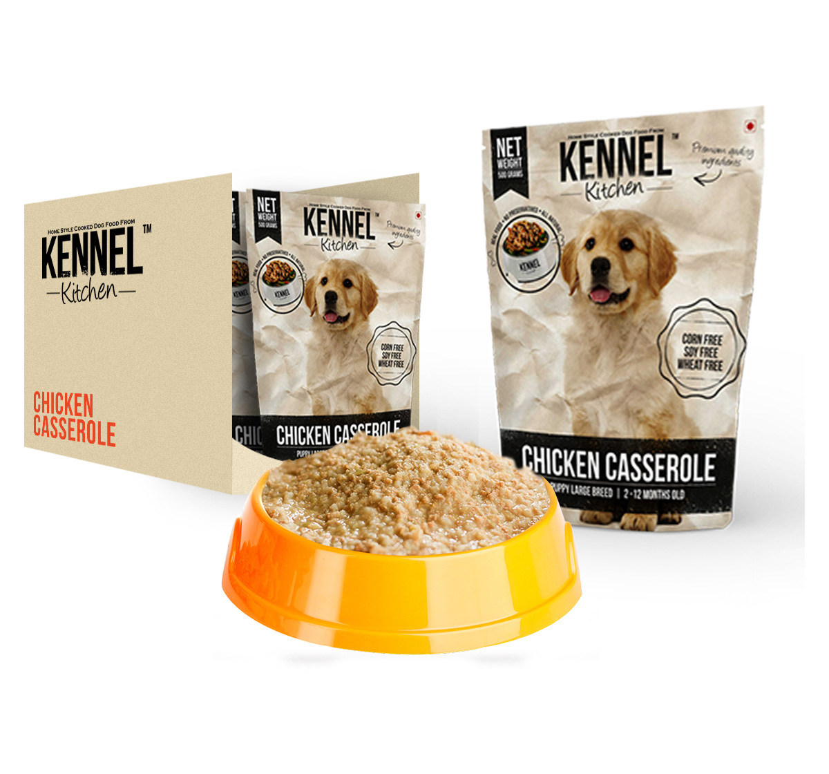 Kennel Kitchen Puppy Large Breed Chicken Cassrole - 300 gm (Pack Of 3)