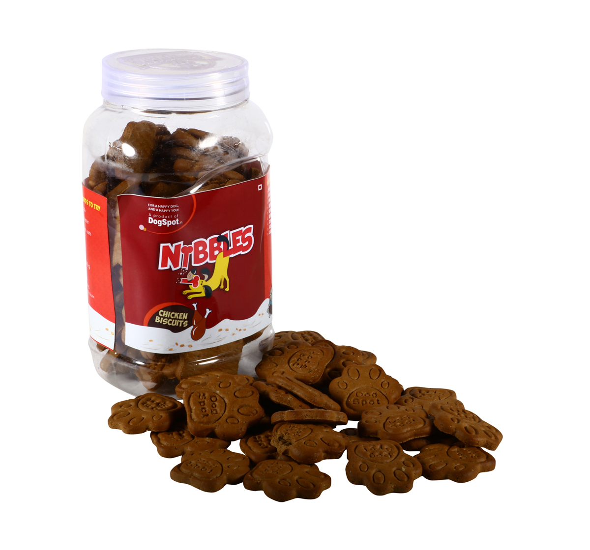 Nibbles Chicken Dog Biscuit - 1 kg (Pack Of 4)