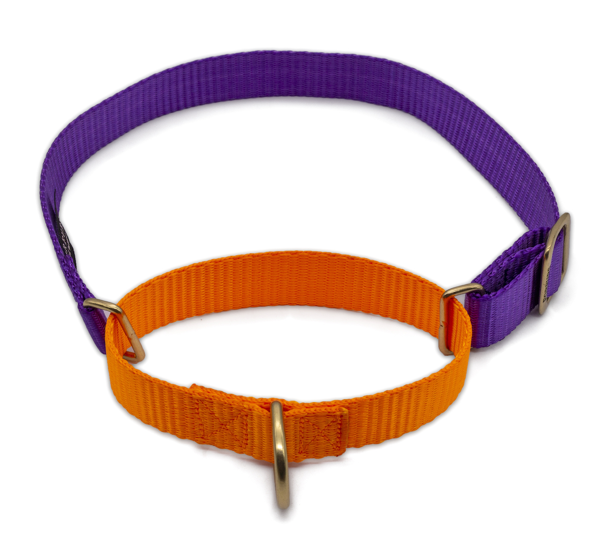 Forfurs Duo Martingale Collar Ultra Violet & Neon Orange - Large