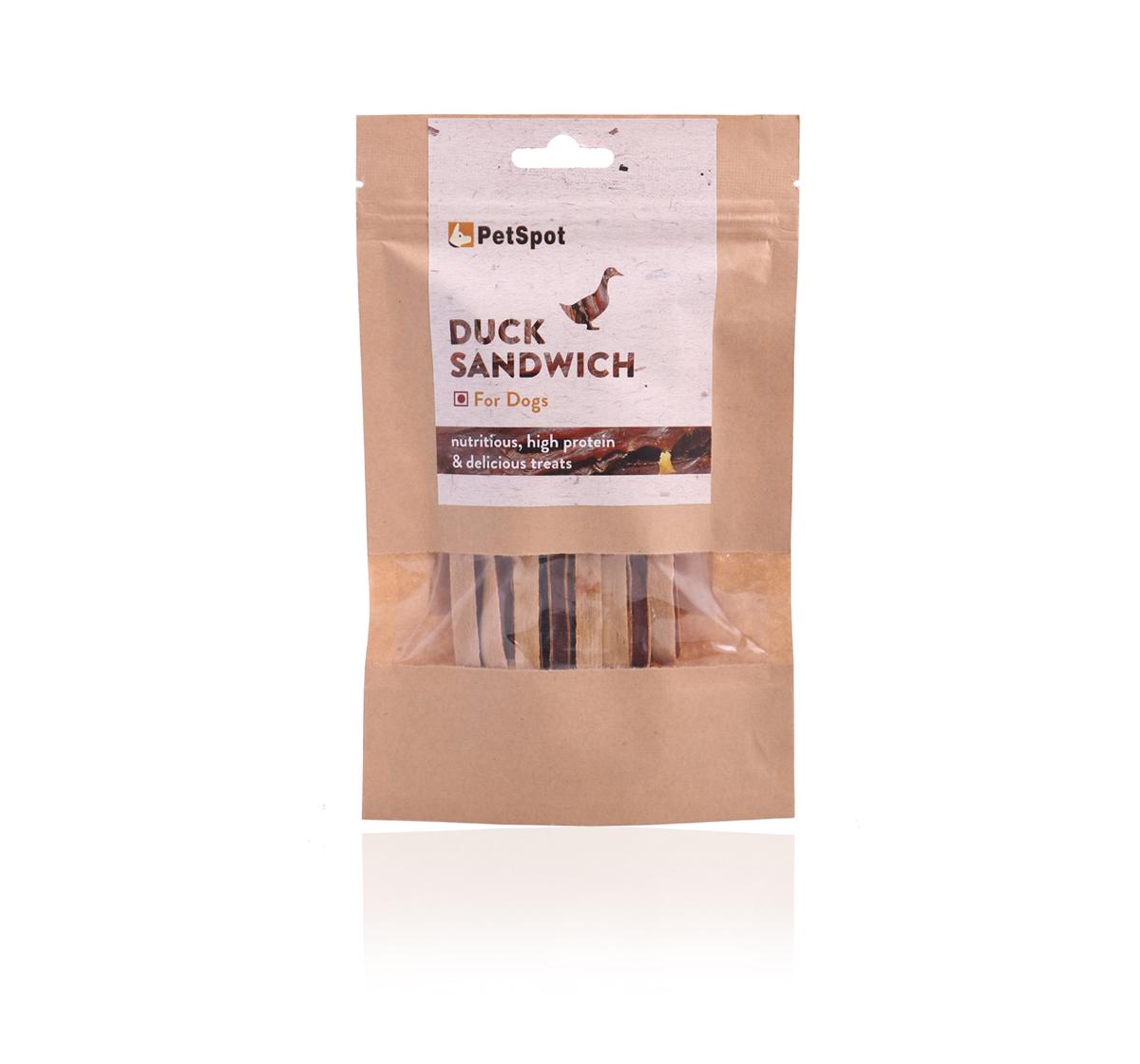 PetSpot Duck Sandwich - 70 gm (Pack of 5)