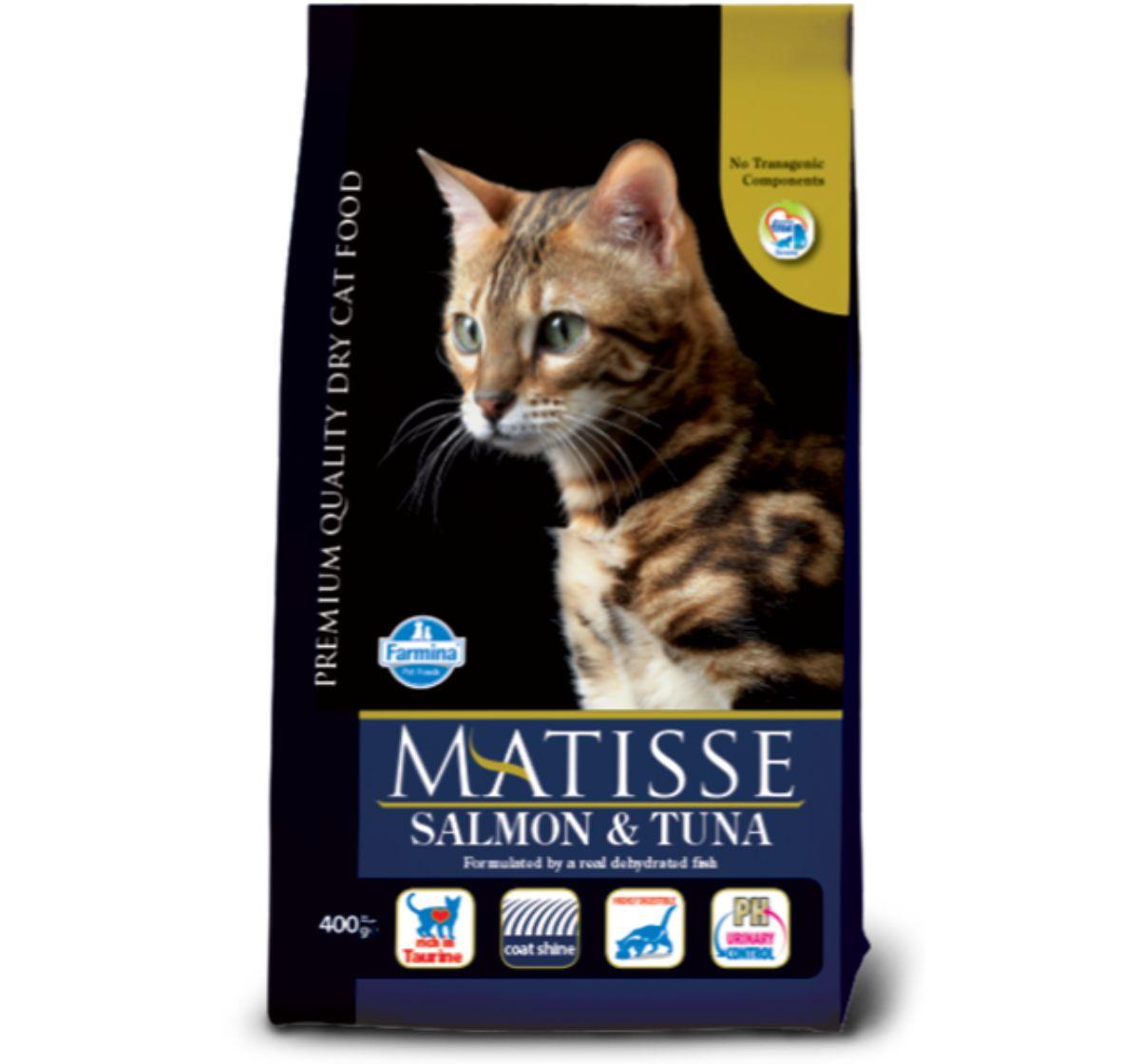 Matisse Neutered Adult Cat Food Salmon & Tuna - 1.5 Kg (Pack Of 8)