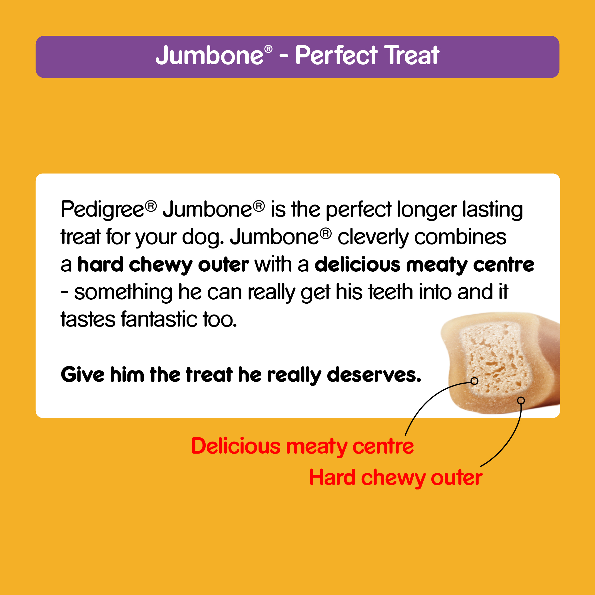 Pedigree Jumbone Chicken and Rice Dog Treat - 200 gm ( 3 packs)