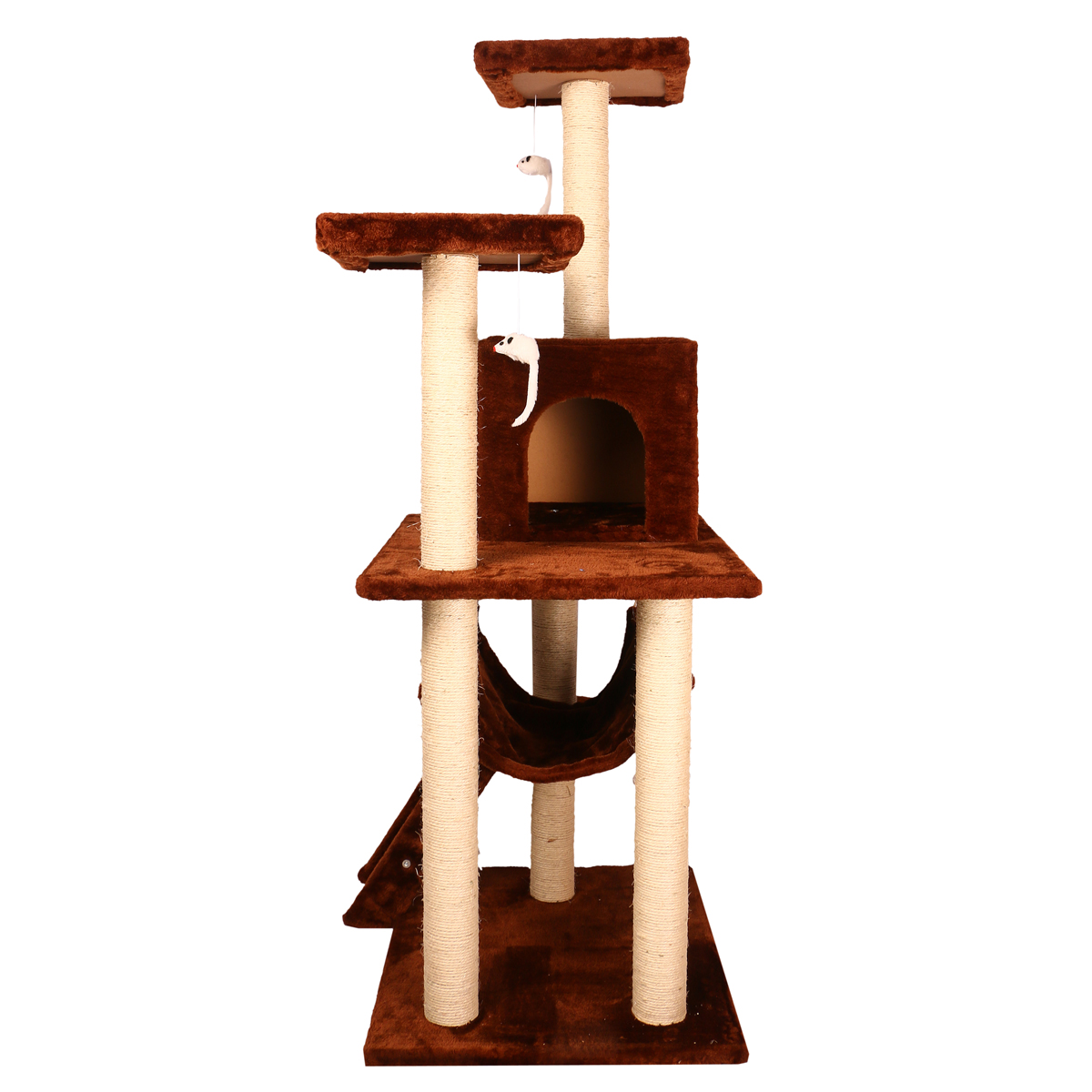 Catspot premium dream world cat tree gym with cat condo for Cat tower with hammock