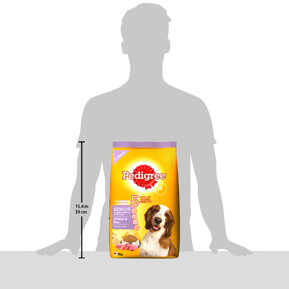 Pedigree Chicken & Rice For Senior Dog - 3 Kg