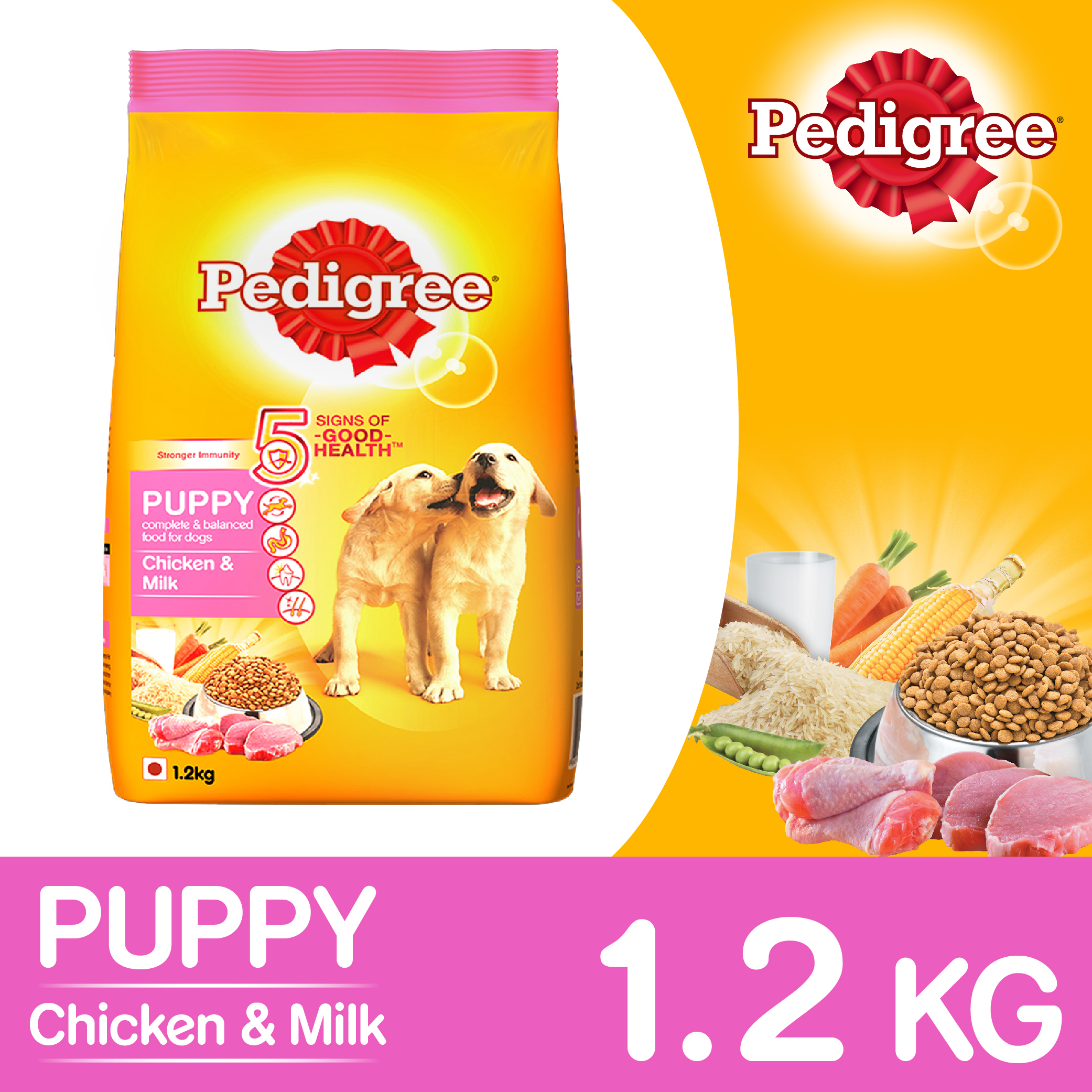 Pedigree Dog Food Puppy Chicken Amp Milk 1 2 Kg Dogspot