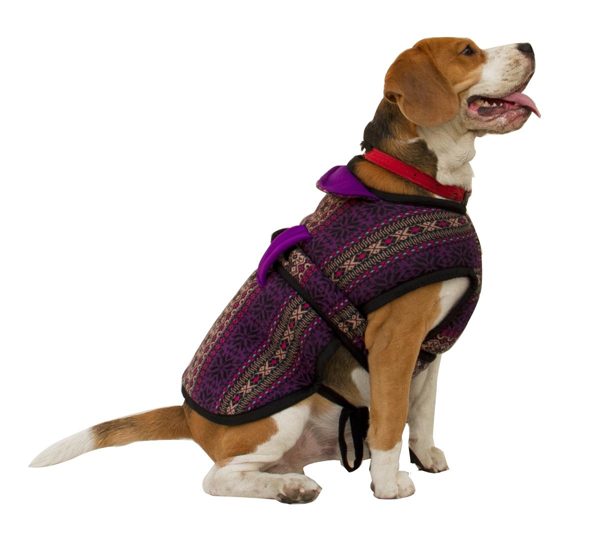 DogSpot Aztec Blast Flannel Dog Coat Size - 24