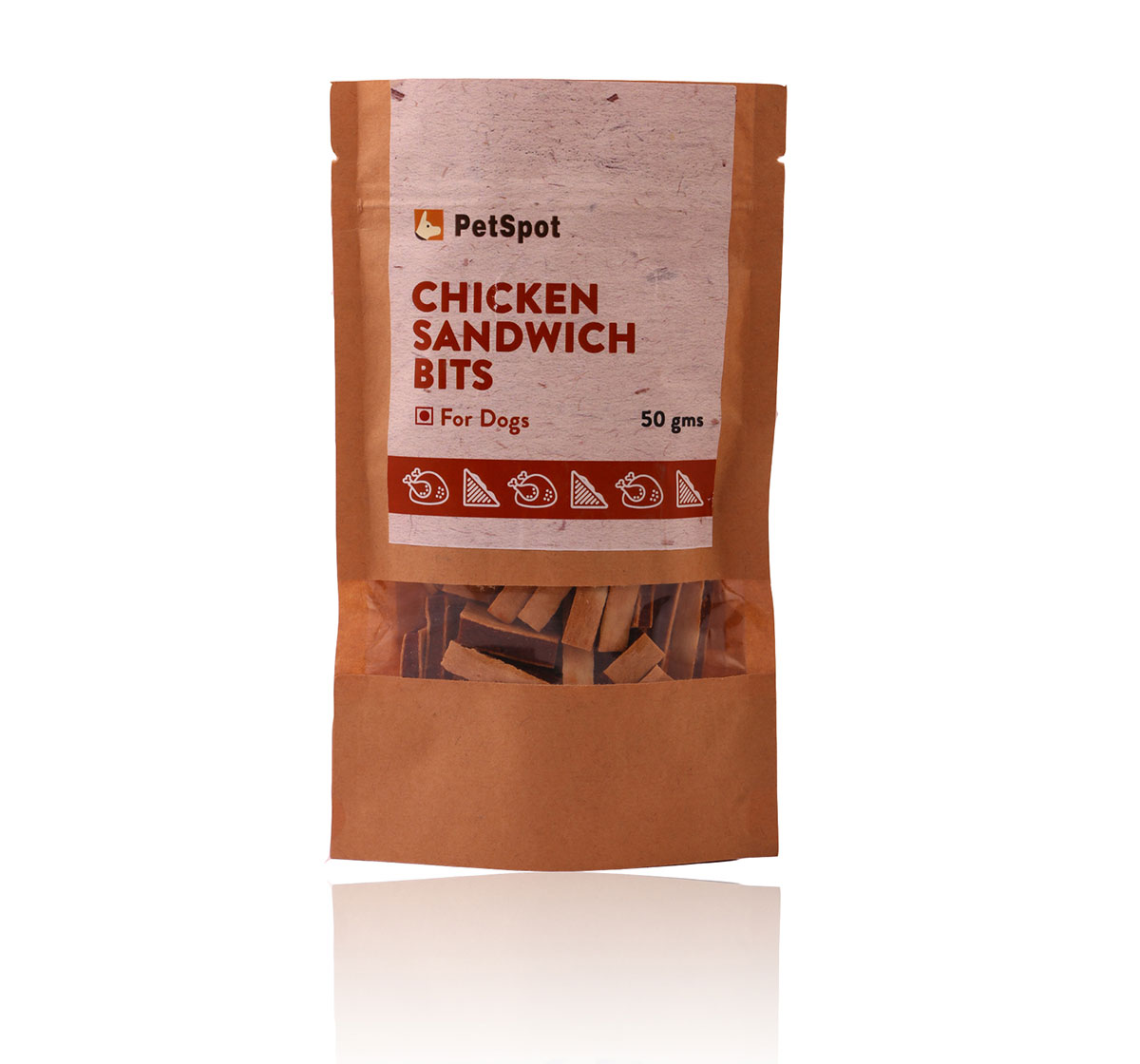 PetSpot Chicken Sandwich Bits - 50 gm