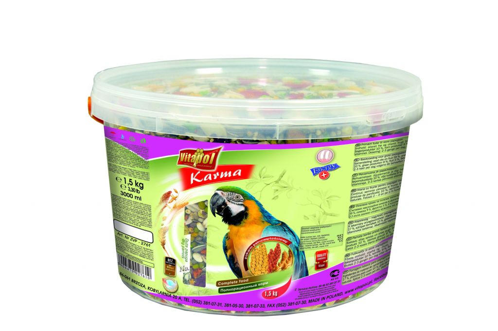 Vitapol Food For Big Parrot Container pack - 1.5 kg