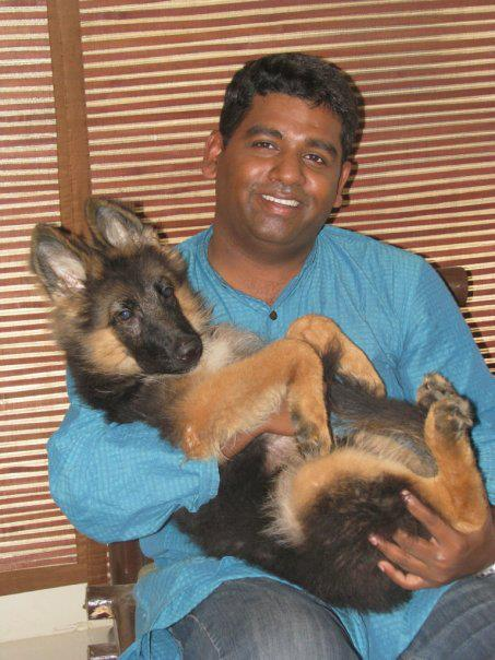 Pravin and his dog