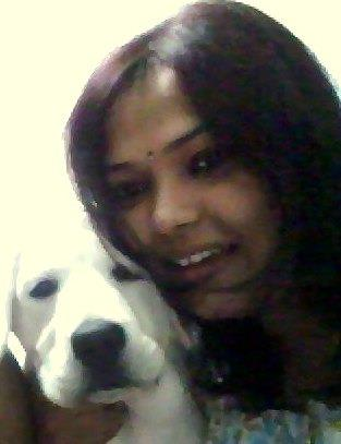 Sweta Roy dog lover