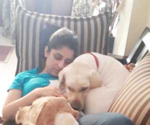 Ankita Sharma Dog