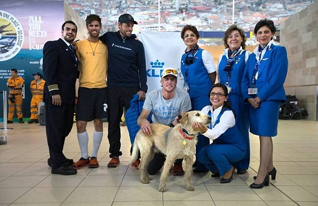 Arthur and team at airport
