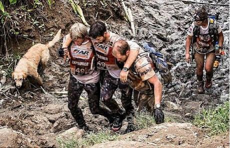 Arthur in mud