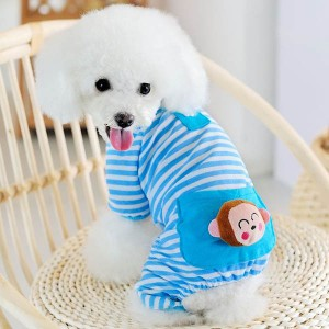 Small-Pet-Dog-Stripes-Pajamas-Coat-Cat-Puppy-Cute-Cozy-Clothes-Apparel-Clothing-Free-Shipping-Drop