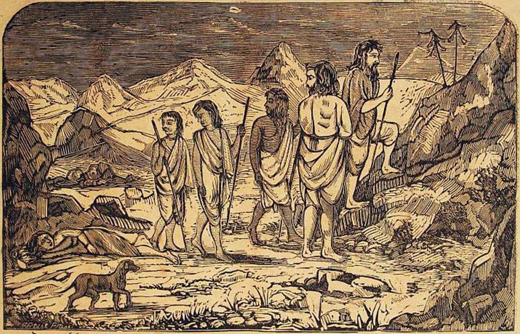 Death_of_Draupadi_-_Illustrations_from_the_Barddhaman_edition_of_Mahabharata